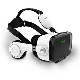 Latest High Qulaity VR Box Z4 - 3D Glasses With Headphone - White