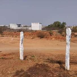 READY TO CONSTRUCT PLOT 100 SQ YDS NORTH FACING BALAJI NAGAR NARAPALLI