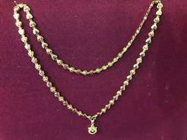 Gold plated chain with locket