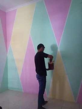 Jasa cat rumah,renovasi,partisi,bagun rumah,listrik& tukang bangunan