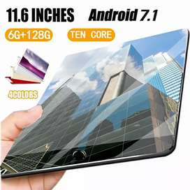 Tablet android 7.1 Layar IPS 11.6 inchi Core 10 WiFi Bluetooth