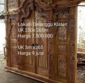 Gebyok pintu kusen kayu jati pintu