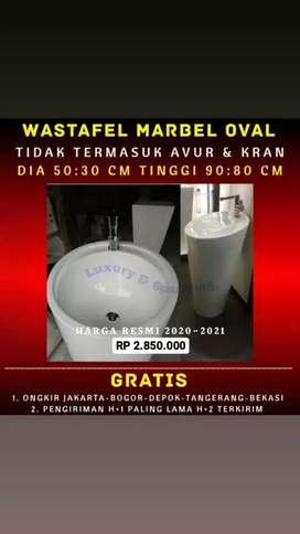 Wastafel Marbel Oval