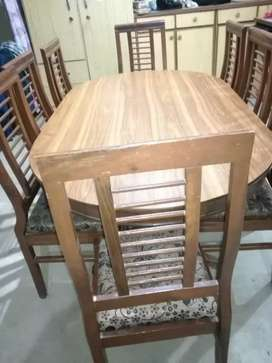 Wooden Table with 8 chairs