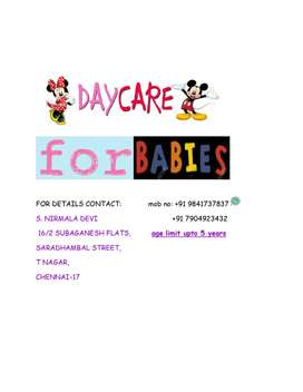 DAY CARE FOR babies in T NAGAR.