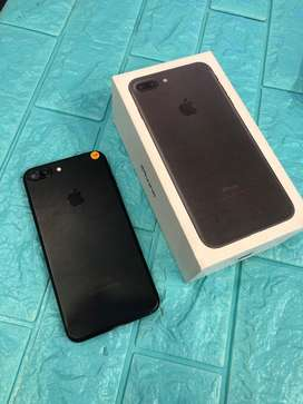 iphone 7 plus 128gb black matte lengkap