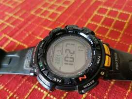 Casio Protrek Triple Sensor Digital Grey Dial Men's Watch