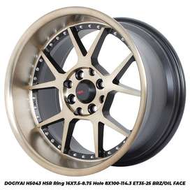 velg type DOGIYAI 5043 HSR R16X7,5-875 H8X100-114,3 ET35-25 BRZ OIL FA