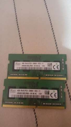 Ram 4 gb *2  dual channel