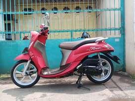 Yamaha fino grande 2019 idling stop istimewa red