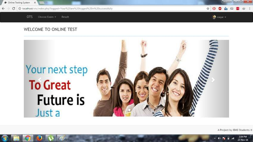 Online Testing System Project based on Core PHP 0
