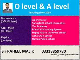 O level & A level (Online classes)