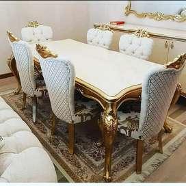 Set meja makan klasik k6 inul