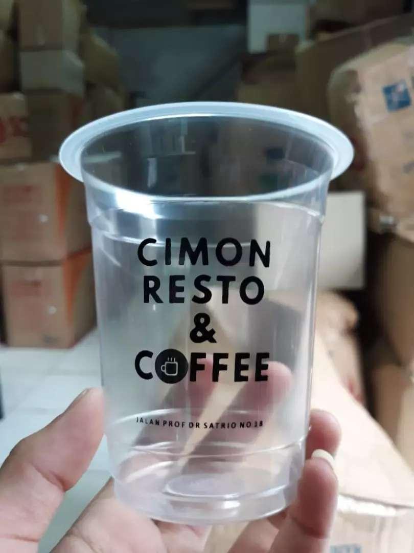 Gelas plastik Hits CUP PET 16oz 0