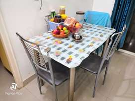 Glass Dining Table (4 Chairs)..Purchase price 11k