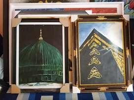Lukisan Kubah Hijau Nabawi Madinah