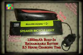 Usb rechargeable Bicycle HeadLight with Horn