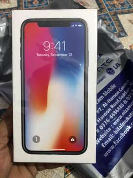 iPhone x 64gb with complete box PTA Approved
