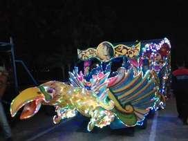 kereta kencana full lampu led odong odong panggung nemo fiber AF