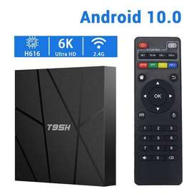 T95H 6k smart android tv box 4/32 android 10.0 with 1 year waranty
