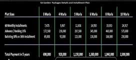 SA Garden 5 Marla plots available on Installment