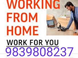 The work is simple typing work from home