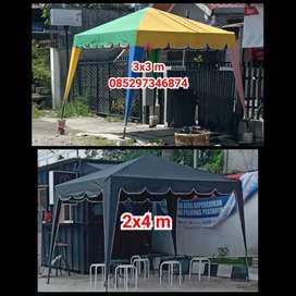 Jual tenda kafe jualan dan kain terpal tenda (bs antar di medan
