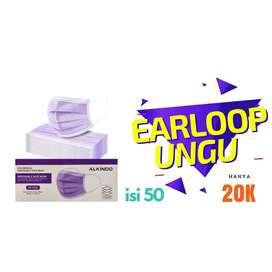 Masker earloop ungu