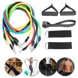 5 Resistance Bands 11PCS Set Cash on Delivery all over Pakistan