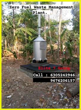 Zero Fuel incinerator 5 to 1 ton model from direct manufacture