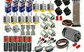 DC motors set and battery switch
