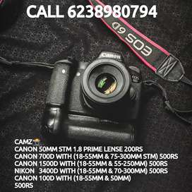 Camera for rental daily (per day 500)