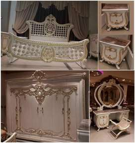 Tempat tidur, nakas, meja cermin almari, fullset, kayu jati,freeongkir
