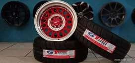 Paket velg+ban semislick GT Champiro SX2 R16 cocok untuk Avanza Xenia
