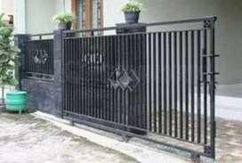 jasa pembuatan pintu pagar besi