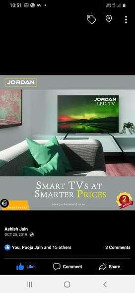 """Jordan 40"""" smart + Android Led tv"""