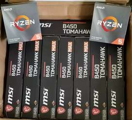 Selling MSI TOMAHAWK B450 & B450 MAX. With RYZEN combo also Available.