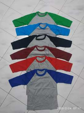 "Kaos Raglan untuk anak""Unisex."