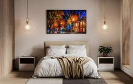 Making of canvas paintings in all sizes
