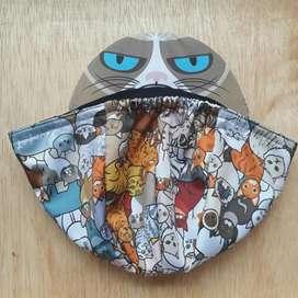 Topi gowes Lumpat cycling cap helm sepeda kucing lucu