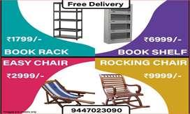 94. BOOK RACK & BOOK SHELF | EASY CHAIR l ROCKING CHAIR