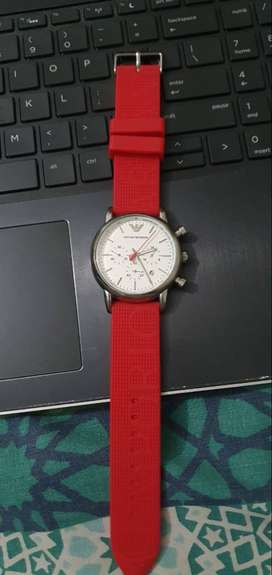Emporio Armani Watch AR 11021 - Limited Edition _ Red strap