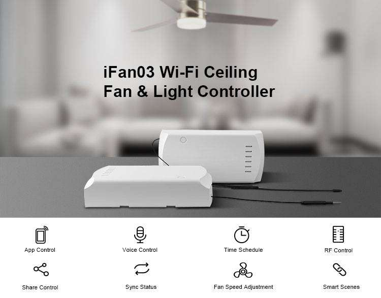 SONOFF IFAN03 WI-FI CEILING FAN AND LIGHT CONTROLLER