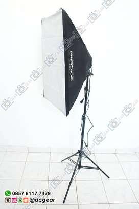 Paket Softbox lampholder 4 socket E27 merek taffstudio