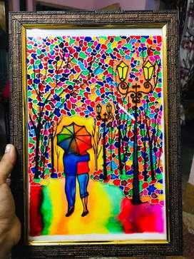 Romantic glass painting
