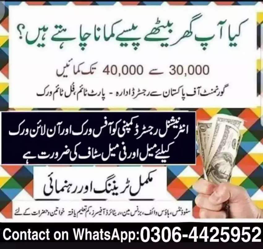 Jobs available (Part Time, Full Time, Home Based Online Job) 0