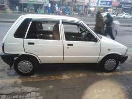 White Mehran total geniuen family car
