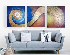Abstract painting size 7.5 ft x 3 ft