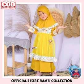 eLBi - Baju muslim anak - Safwa Dress - Gamis anak cewek cantik