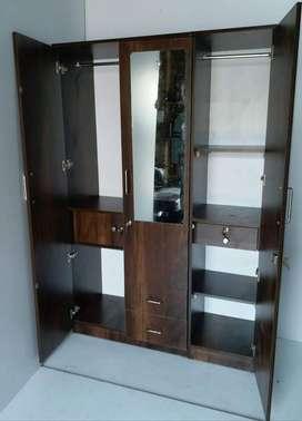 brand new black wardrobe  3 door wardrobe with mirror